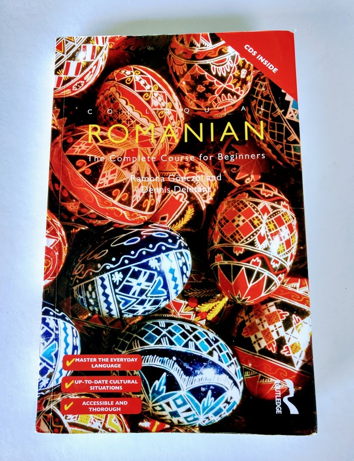 Painted Easter Eggs on the cover of the Colloquial Romanian text book