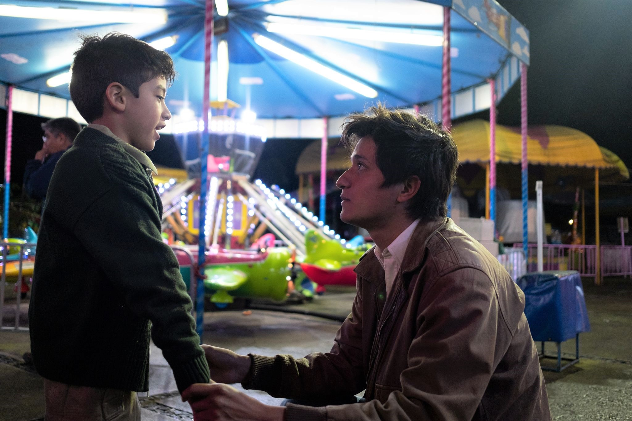 A scene from the film I Carry You With Me