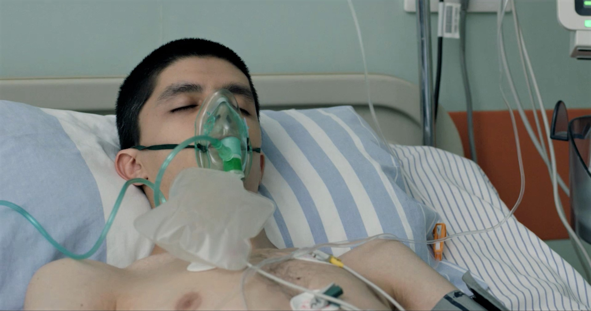 A hospital scene from the Romanian film 5 Minutes Too Late